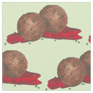 Italian Food Meatball Meatballs Marinara Fabric