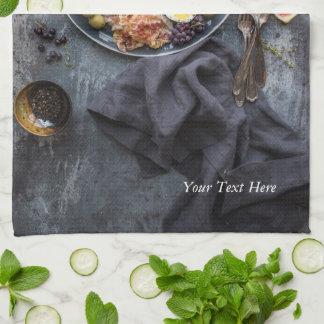 Italian food platter kitchen towel