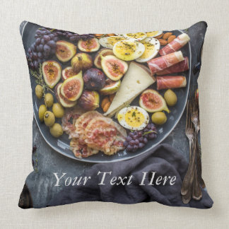 Italian Food Selection Throw Pillow