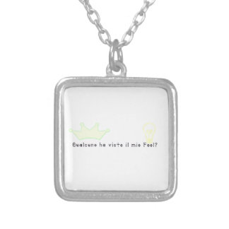 Italian-Fool Silver Plated Necklace