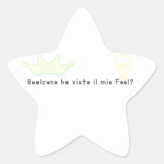 Italian-Fool Star Sticker