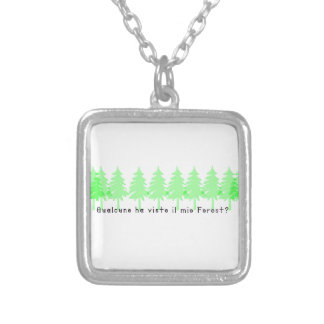 Italian-Forrest Silver Plated Necklace