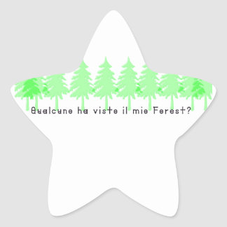 Italian-Forrest Star Sticker