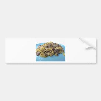 Italian fresh fettuccine or tagliatelle pasta bumper sticker