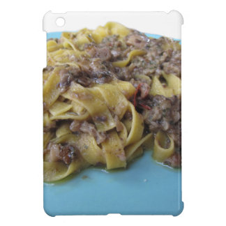 Italian fresh fettuccine or tagliatelle pasta iPad mini cases