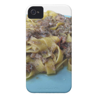 Italian fresh fettuccine or tagliatelle pasta iPhone 4 cases