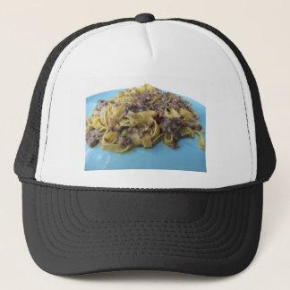 Italian fresh fettuccine or tagliatelle pasta trucker hat