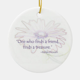 Italian Friendship Proverb Ornament