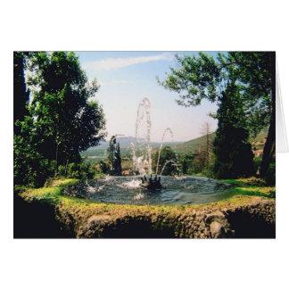 Italian Garden Estate Fountain ~ Italy Travel Card