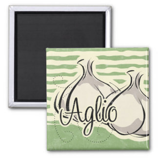 Italian Garlic Kitchen Magnet