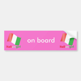 Italian Girl Bumper Sticker