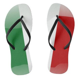 Italian glossy flag flip flops