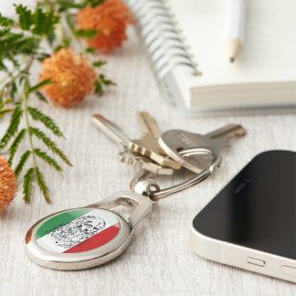 Italian glossy flag keychain