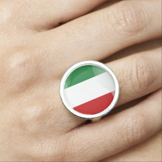 Italian glossy flag photo ring