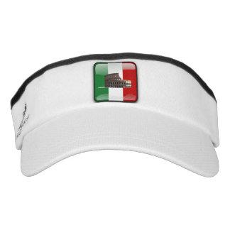 Italian glossy flag visor