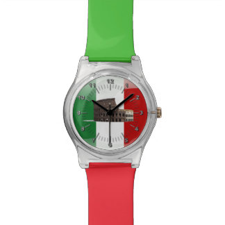 Italian glossy flag watch