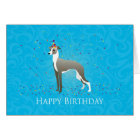 Italian Greyhound Birthday Design Card