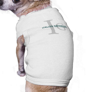 Italian Greyhound Breed Monogram Dog Tee Shirt