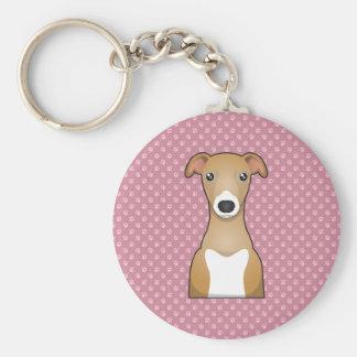 Italian Greyhound Cartoon Keychain