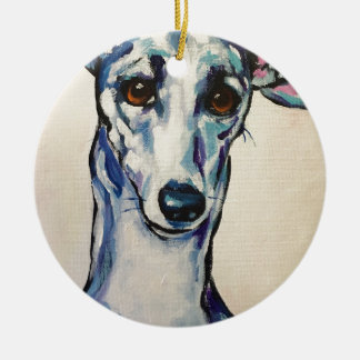 Italian Greyhound Ceramic Ornament