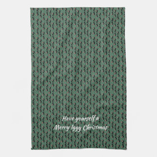 Italian Greyhound Christmas Towel