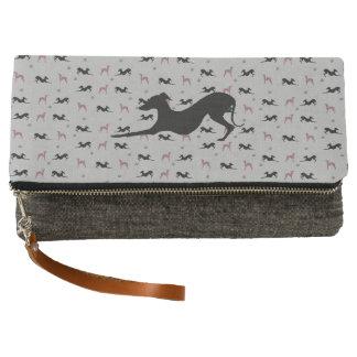 Italian Greyhound Clutch Purse Pink Girly