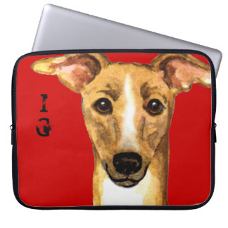 Italian Greyhound Color Block Laptop Sleeve
