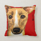 Italian Greyhound Colour Block Throw Pillow