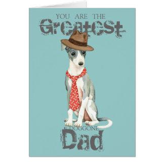 Italian Greyhound Dad Card