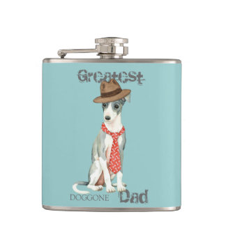 Italian Greyhound Dad Hip Flask