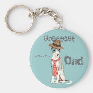 Italian Greyhound Dad Keychain