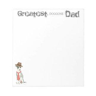 Italian Greyhound Dad Notepad