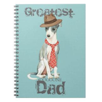 Italian Greyhound Dad Spiral Notebook