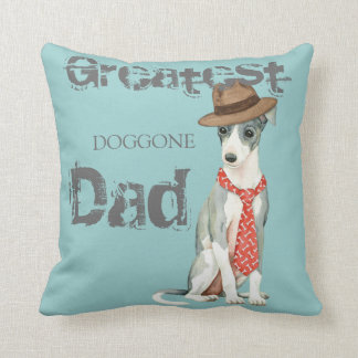Italian Greyhound Dad Throw Pillow