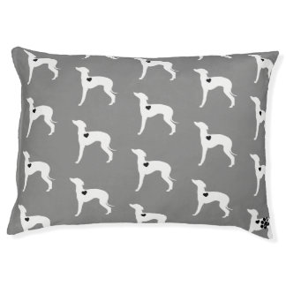 Italian Greyhound Dog Bed Grey
