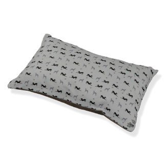 Italian Greyhound Dog Bed with Grey Iggys