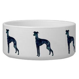 Italian Greyhound Dog Black Watercolor Silhouette