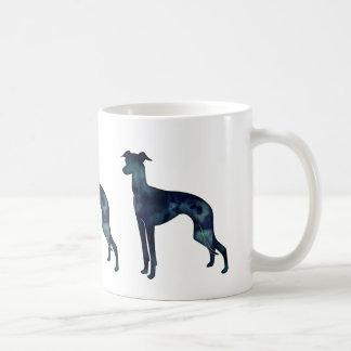 Italian Greyhound Dog Black Watercolor Silhouette Coffee Mug