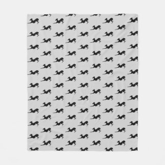 Italian Greyhound Dog Blanket Grey