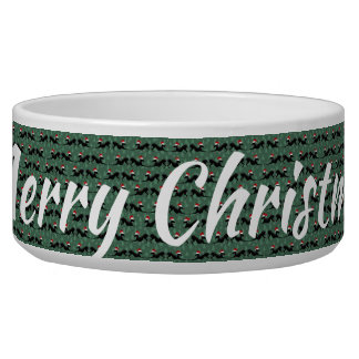 Italian Greyhound Dog Bowl Merry Christmas