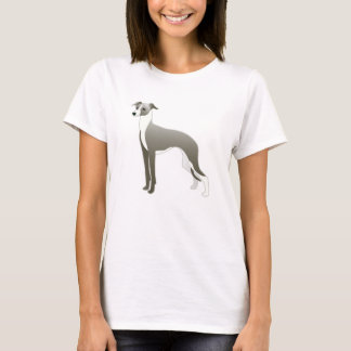 Italian Greyhound Dog Breed Illustration Silhouett T-Shirt