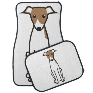 Italian Greyhound Dog Cartoon Car Mat