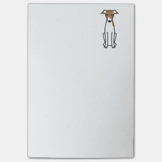 Italian Greyhound Dog Cartoon Post-it Notes