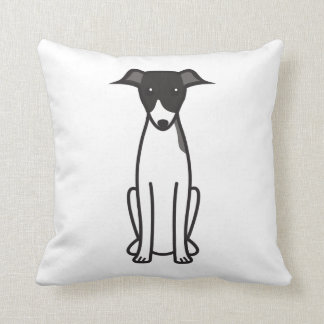 Italian Greyhound Dog Cartoon Throw Pillow
