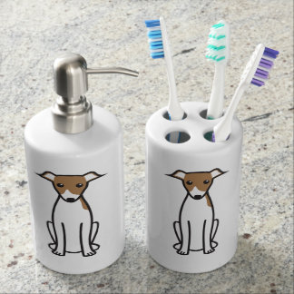 Italian Greyhound Dog Cartoon Toothbrush Holder