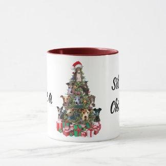 Italian Greyhound Dog Christmas Holiday Mug Cup