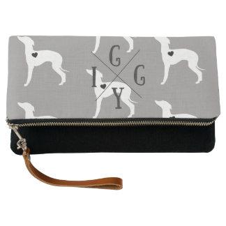 Italian Greyhound Dog Clutch Purse