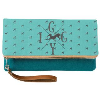 Italian Greyhound Dog Clutch Purse Iggy Bag