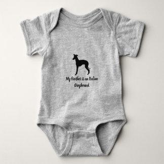 Italian Greyhound Dog Iggy Rescue  Kids Baby Baby Bodysuit