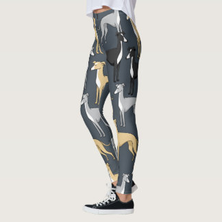 Italian Greyhound Dog Leggings printed.